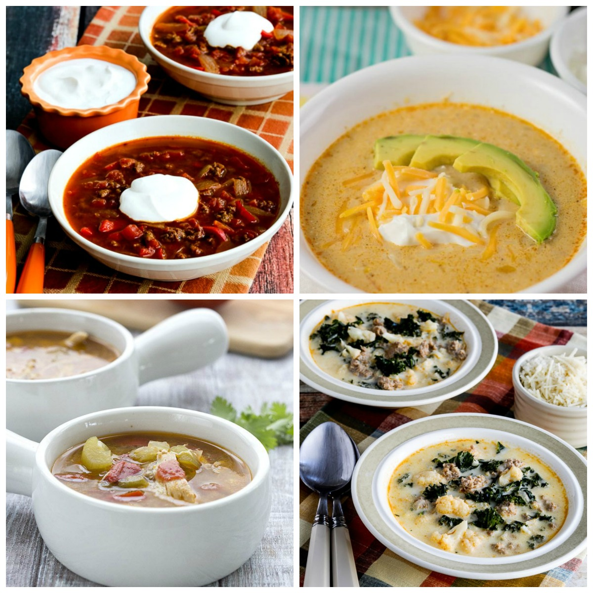 50 AMAZING Low Carb Instant Pot Soup Recipes top photo collage