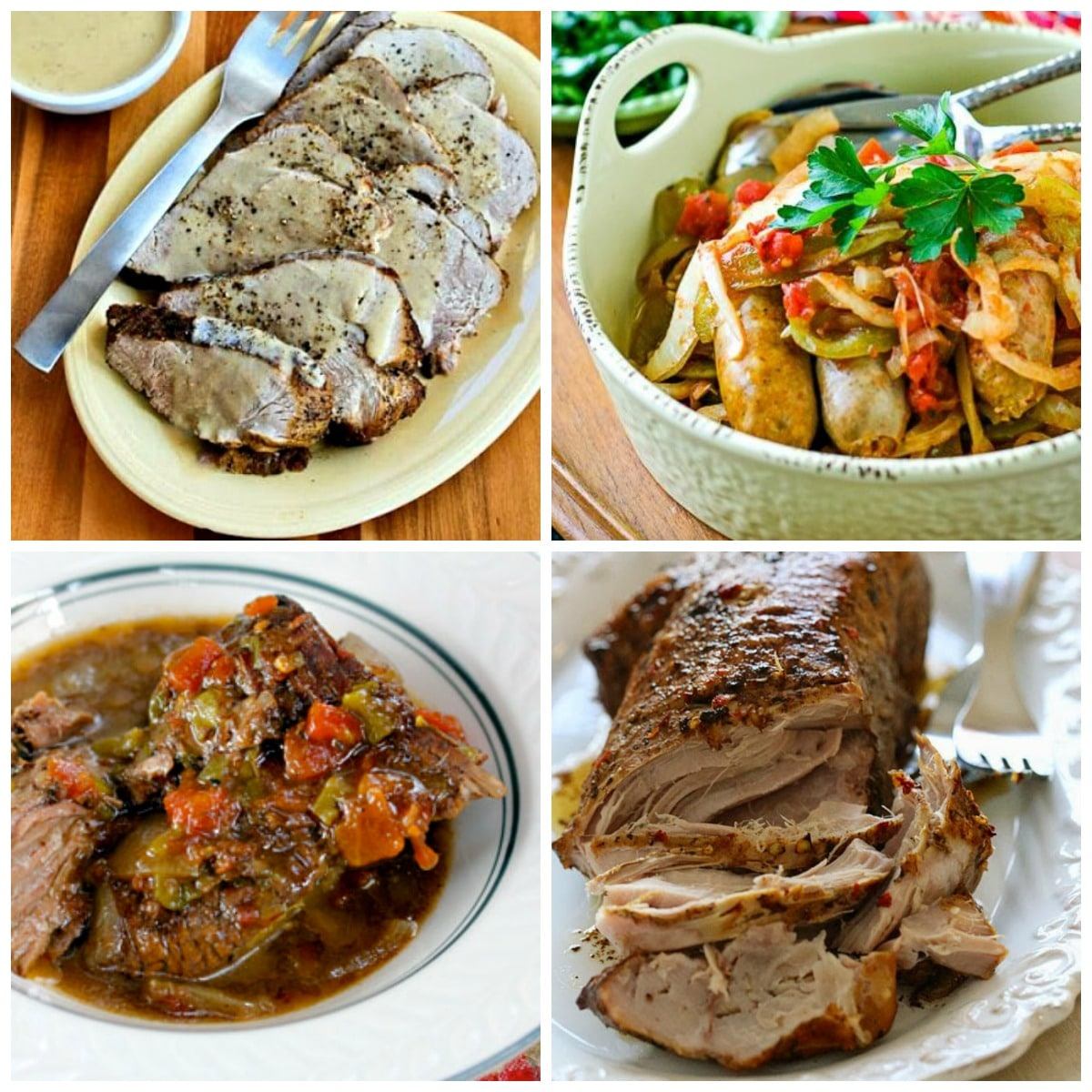 25 Low-Carb and Keto Slow Cooker Dinners top photo collage