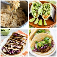 Slow Cooker or Instant Pot Mexican Beef, Chicken, or Pork top photo collage