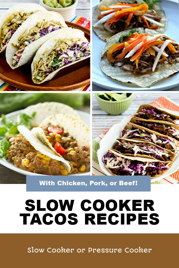 Pinterest image of Slow Cooker Tacos Recipes