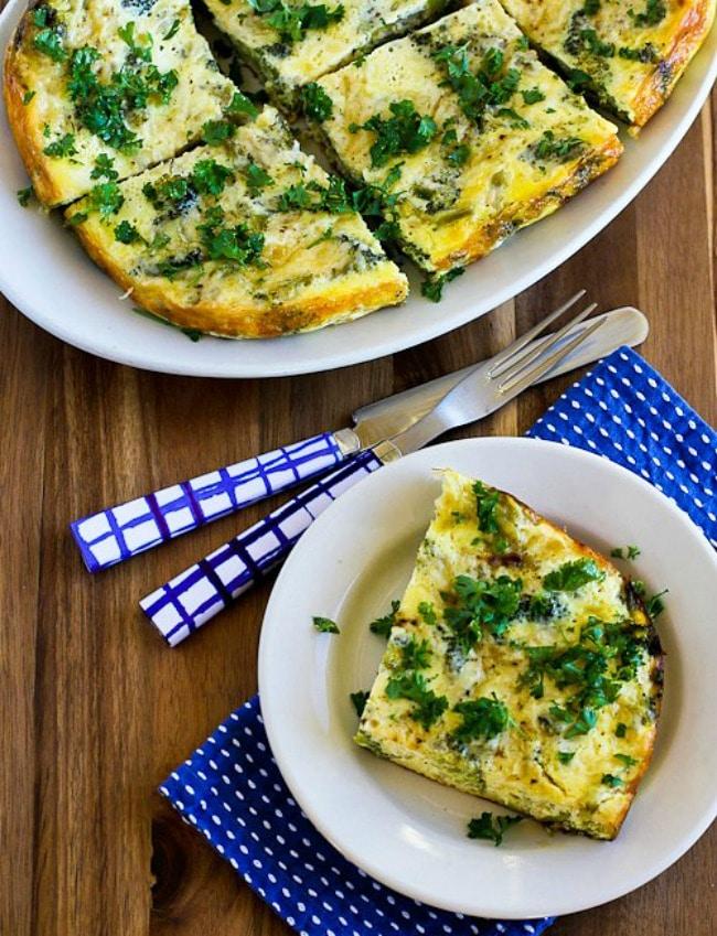 Slow Cooker Broccoli Cheese Breakfast Casserole from Kalyn's Kitchen