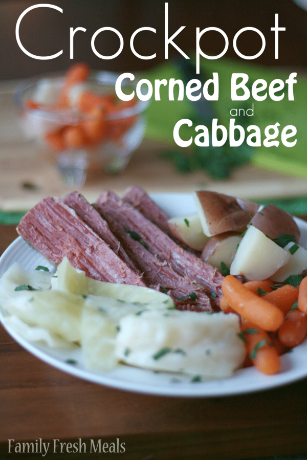 Crockpot Corned Beef and Cabbage from Family Fresh Meals