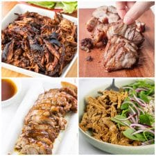 Slow Cooker and Instant Pot Char Siu Pork Recipes collage of featured recipes