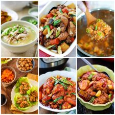 Slow Cooker or Instant Pot Recipes for Korean Chicken collage of featured recipes