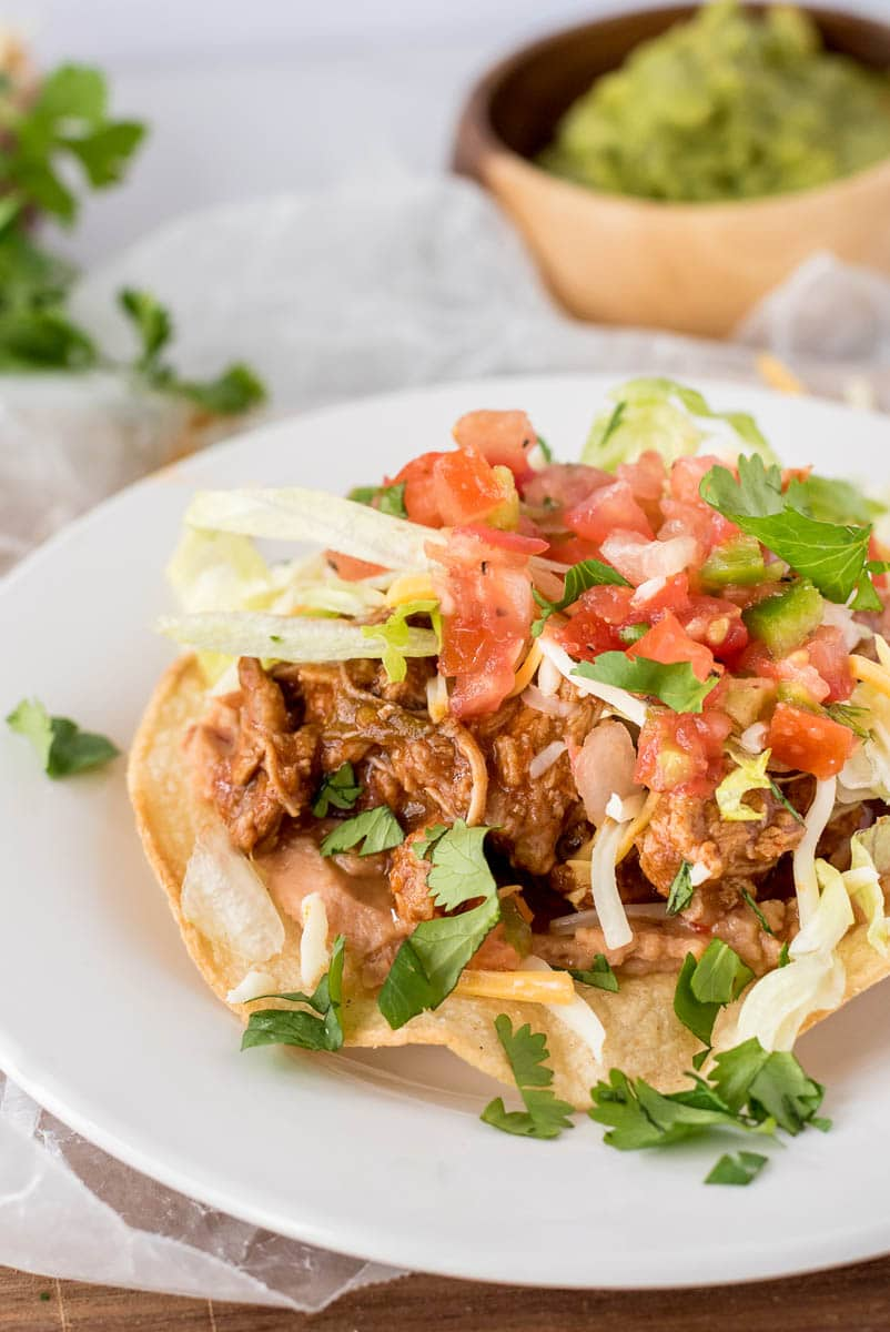 Cafe Rio Style Sweet Pork Tostadas from Pressure Cooking Today