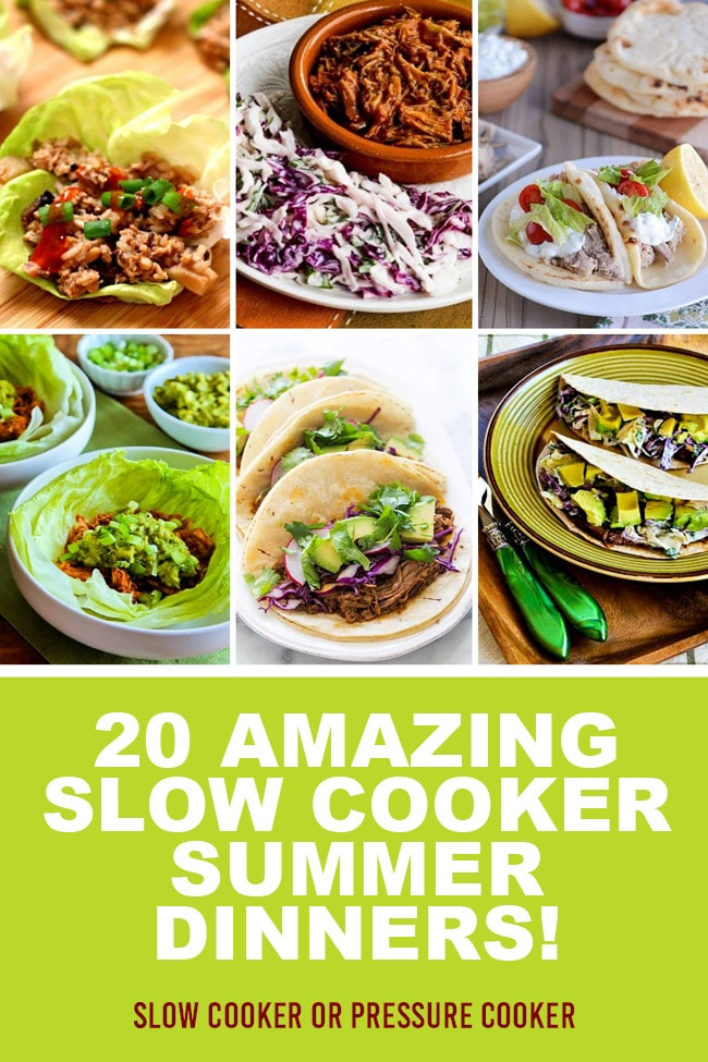 Pinterest image of 20 Amazing Slow Cooker Summer Dinners!