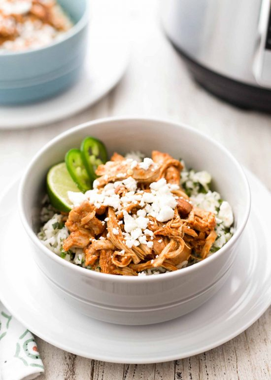 Instant Pot Chipotle Chicken and Rice Bowls from Simply Recipes