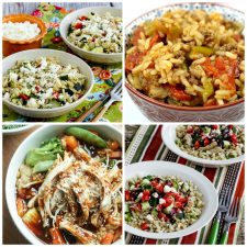 Slow Cooker and Instant Pot Rice Bowls top photo collage