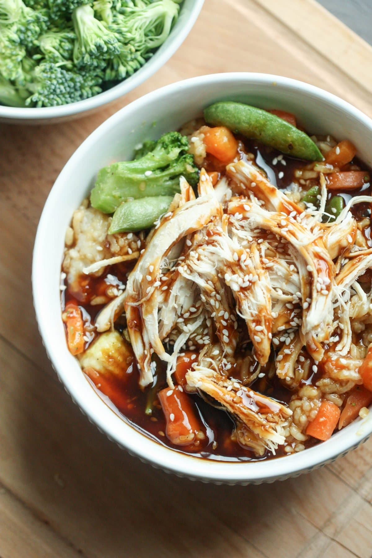 Instant Pot Teriyaki Chicken Bowls from Six Sisters' Stuff