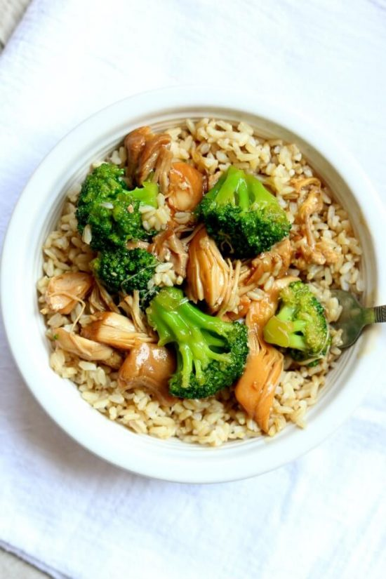 Instant Pot Chicken Broccoli Rice Bowl from 365 Days of Slow + Pressure Cooking