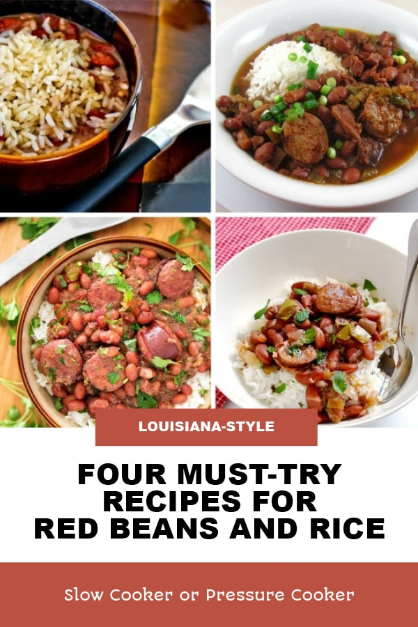 Pinterest image of Four Must-Try Recipes for Red Beans and Rice