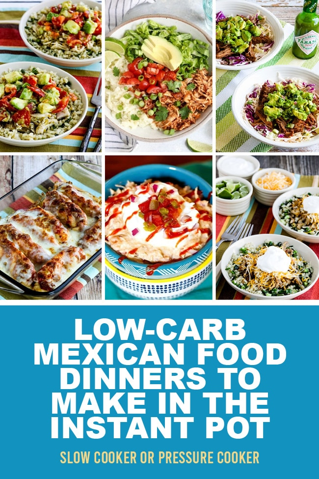 Pinterest image of Low-Carb Mexican Food Dinners to Make in the Instant Pot