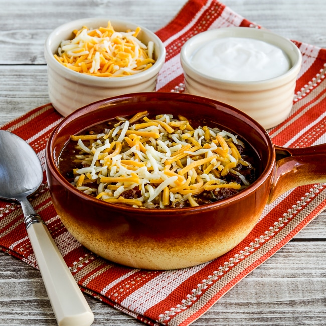 Pumpkin Chili with Ground Beef from Kalyn's Kitchen, thumbnail image