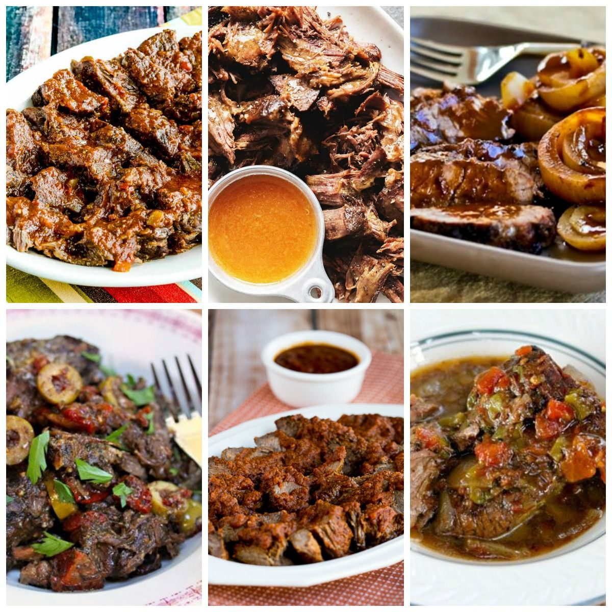 Instant Pot or Slow Cooker Roast Beef Dinners collage photo