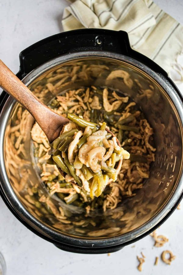 Instant Pot Green Bean Casserole from Shugary Sweets
